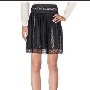BALMAIN flowy silky lace panels ;skirt sz 40 eur